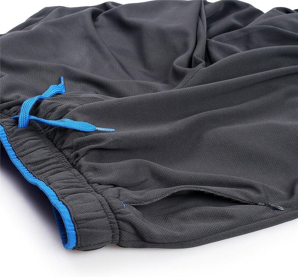 Leggero Pantaloni da Tuta per alle namento Joggers a Cintura Elastica Pallacanestro. Palestra ZENGVEE Pantaloni Sportivo Uomo con Tasche con Cerniera Jogging