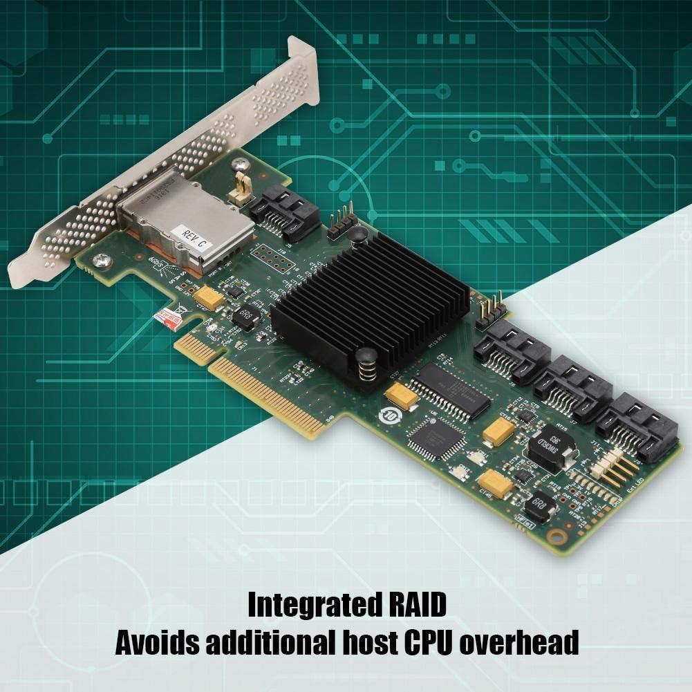 Wendry RAID Card,6Gb//s SAS RAID Controller Card HBA Card Internal and External IT Mode,8 Internal High-Speed SAS Ports