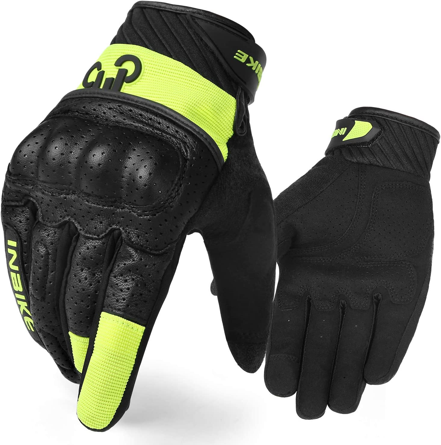 3mm EVA Palm Pad Motorbike Gloves Full Finger Black Medium INBIKE Motorcycle Gloves