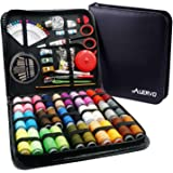 Sewing Kit,AUERVO 116 Premium Sewing Supplies with PU Case, 30 XL Thread Spools,Hand Sewing Kits for Beginners,Adults,Emergen