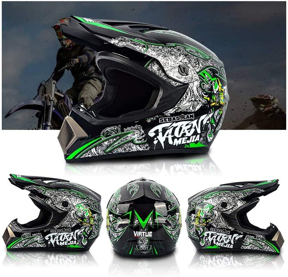 Senhill Motocross Helmet DOT Offroad Helmet Dirt Bike ATV Motorcycle Helmet with Gloves Goggles Mask