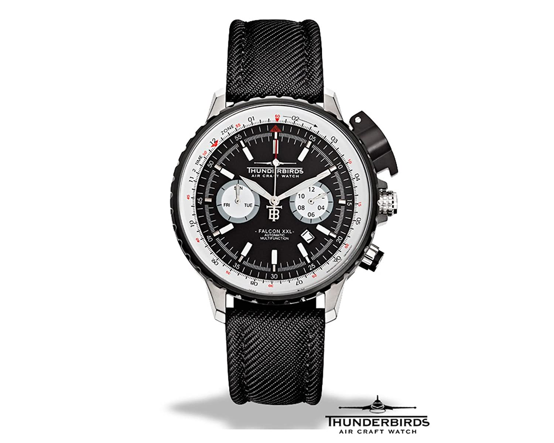 Thunderbirds Air Craft Watch Falcon XXL Flieger Automatikuhr 1069-T01