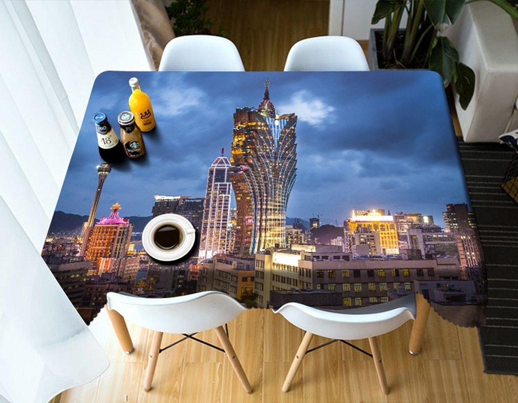 Qiao jin Manteles Manteles rectangulares - 3D Landscape Series Tablecloth MT9 - Respetuoso con el Medio Ambiente y sin Sabor - Impreso digitalmente a Prueba de Agua (Tamaño : Square -216cmx216cm)