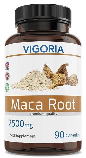 Maca peruana - 2500 mg 90 cápsulas para 3 meses - Extracto natural 10: 1