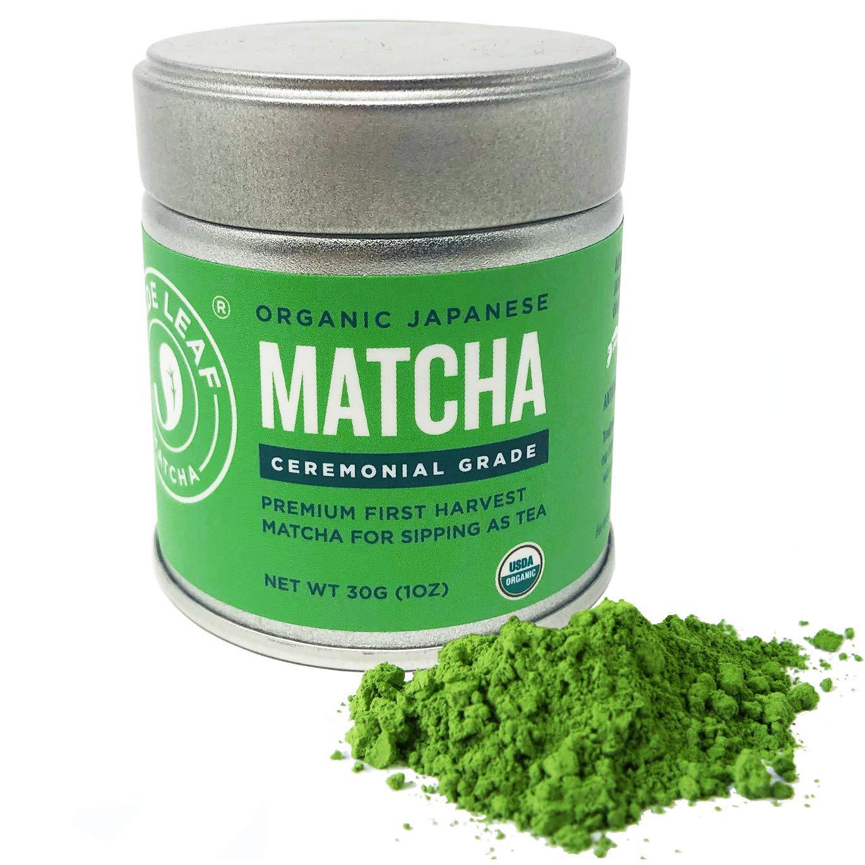 Jade Leaf Matcha Green Tea Powder - USDA Organic - Ceremonial Grade (For Sipping as Tea) - Authentic Japanese Origin - Antioxidants, Energy, 1 Ounce by Jade Leaf Matcha