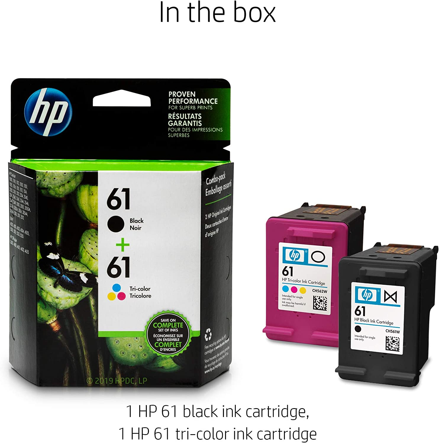 Amazon.com: Cartuchos de tinta originales HP 61 negro y ...