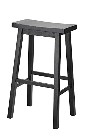 Pleasant Pj Wood 29 Inch Saddle Seat Counter Stool Black Gmtry Best Dining Table And Chair Ideas Images Gmtryco