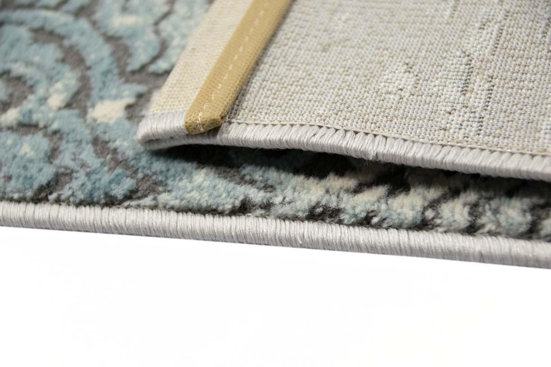 Carpetia Moderner Teppich Antik Vintage Ornamente Grau Creme 120x170