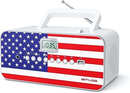 Muse M 28 Us Cd Radio Tragbar Pll Ukw Radio Mw Tuner Senderspeicher Usb Mp3 Wiedergabe Netz Oder Batteriebetrieb Us Audio Hifi