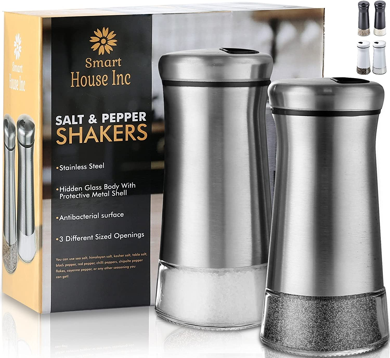 Salt List price and Pepper Shakers - Spice Adjustable Dispenser H New product type Pour with
