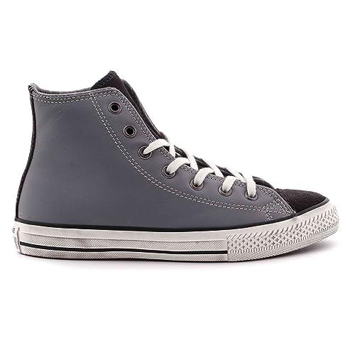 1612c72e9033c Converse Chuck Taylor Distressed Hi Scarpe Grigio Unisex Ragazzi 659011c   Amazon.co.uk  Shoes   Bags