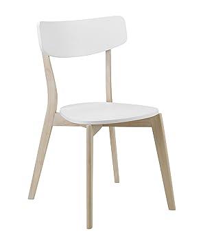 Julian Bowen Casa Dining Chairs, White, Set of 4