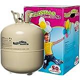 HeliumStar Ballongas Einwegflasche Helium Gas XXL (0,420 m³) für 50 Luftballons mit 25cm Durchmesser oder 27 Folienballons mit 45cm Ø