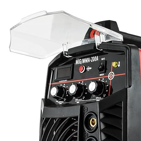 Cueffer Equipo de Soldadura MMA 220A Máquina de Soldadura Eléctrica Soldador Inverter con Electrodo MMA 220A Soldador Eléctrico (MIG/MMA200A): Amazon.es: ...