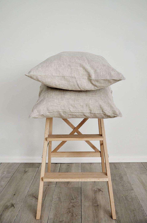 Pillowcase 100/% Pure Natural Linen Covers Pillow Slip Flax Cushion French Modern