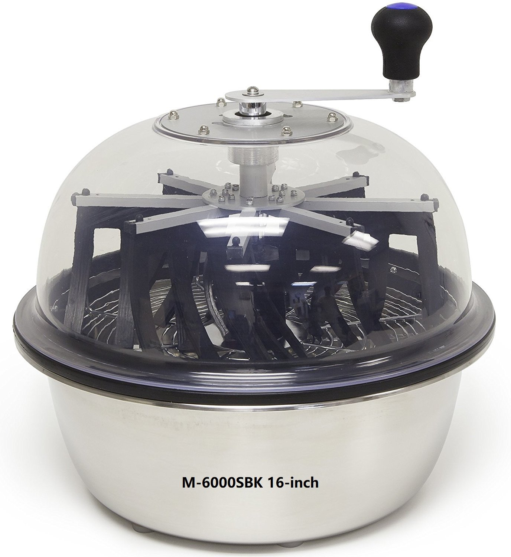 The Clean Cut Bowl Leaf Trimmer M-6000S series M-6000SBK 16-inch Hydroponic Spin Cut Bud Flower Leaf Bowl Trimmer