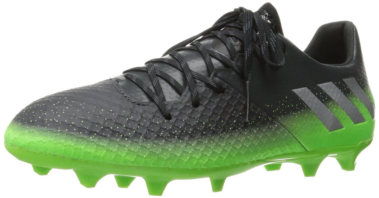 Adidas Performance Men's Messi 16.2 FG Soccer Schuhe,Dark Grau Metallic Silver Neon Grün,10.5 M US