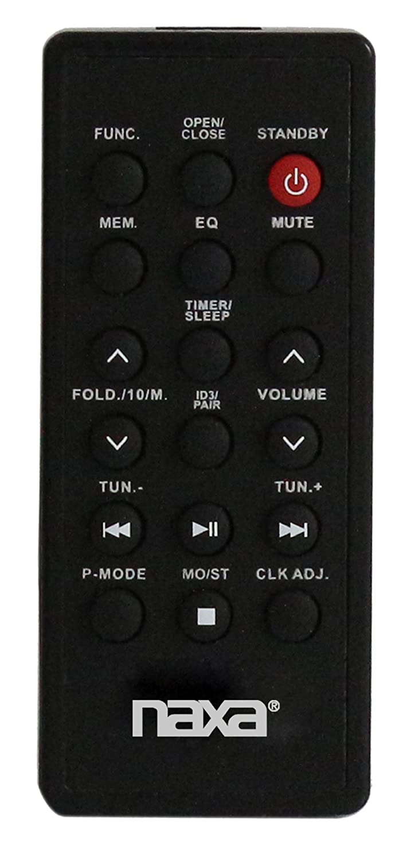 NAXA Electronics NPB-251BK Portable CD Player with AM/FM Stereo ...
