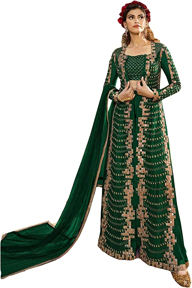 Indian Pakistani Women Girls Salwar Kameez Heavy Georgette Traditional Embroidered Designer Bollywood Wedding Dress Material Ready to Wear