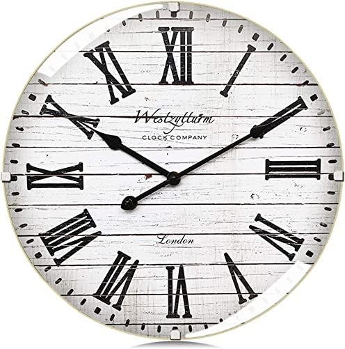 Westzytturm Modern Farmhouse Wall Clock 16 Inch