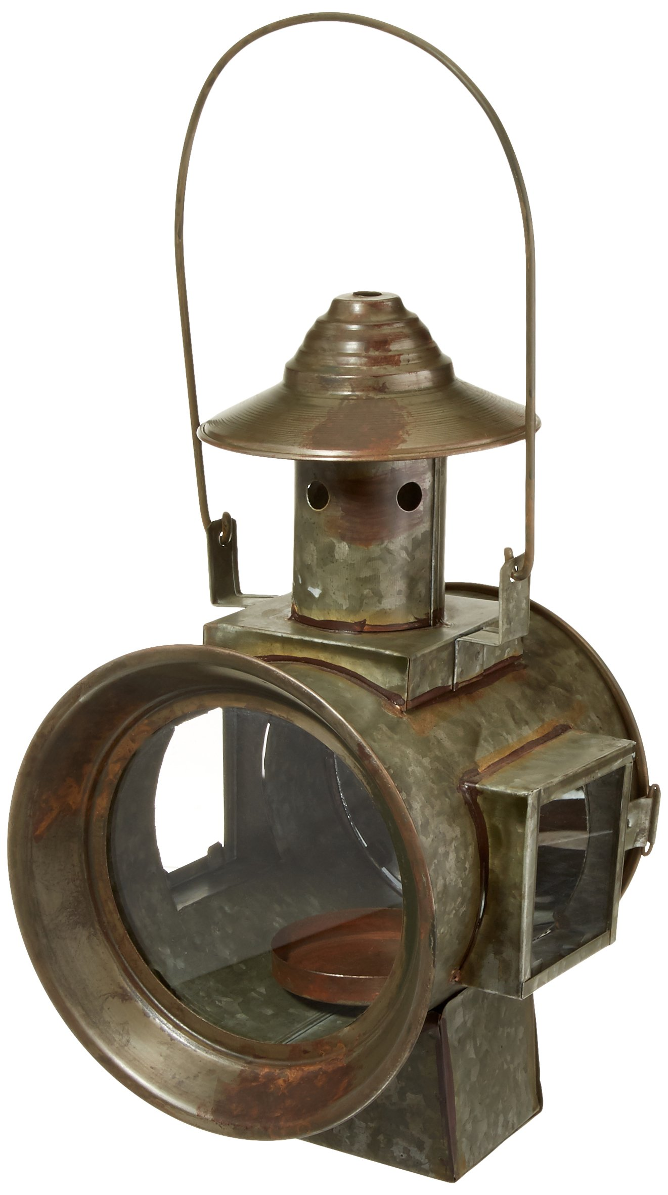 Your Heart's Delight Railroad Light Candle Holder Lantern, 7-1/2 by 13-1/2 by 10-Inch