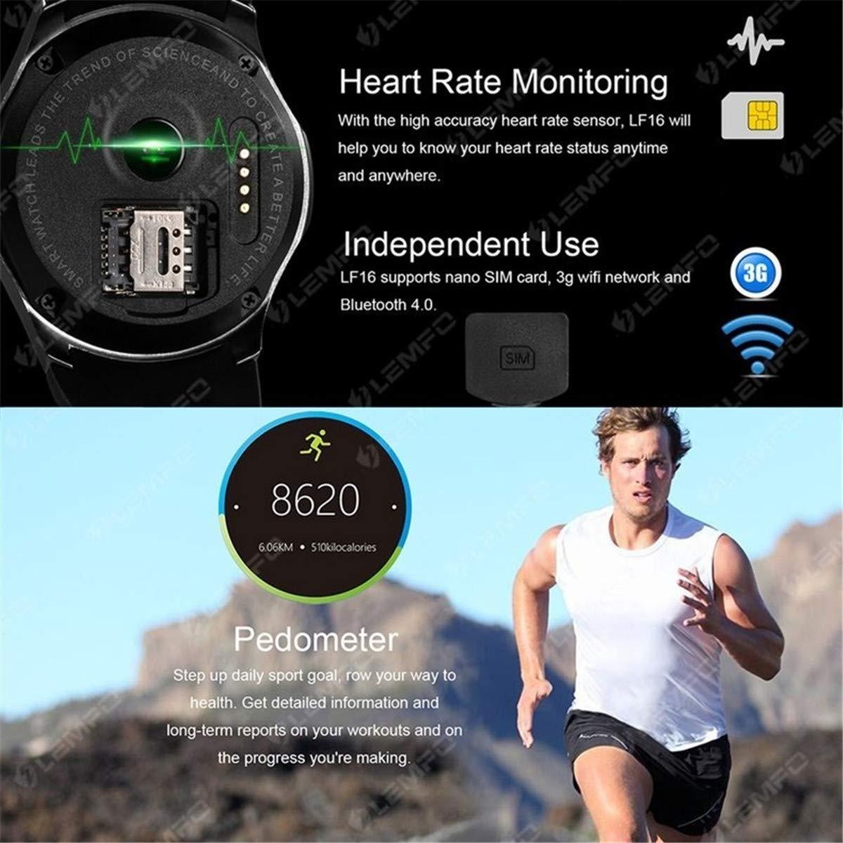 Amazon.com: JASZHAO Bluetooth Smart Watch Phone WiFi GPS 3G ...