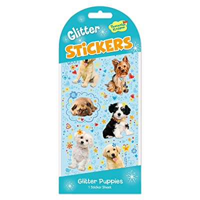 Peaceable Kingdom Glitter Puppies Sticker Pack - 1 Sheet: Toys & Games