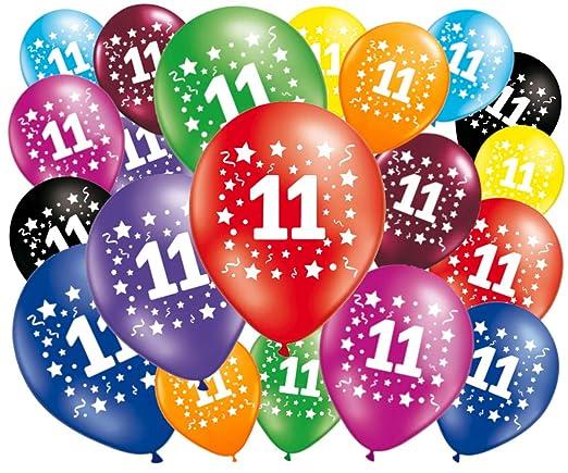 FABSUD - Lote de 20 Globos cumpleaños 11 años: Amazon.es: Hogar
