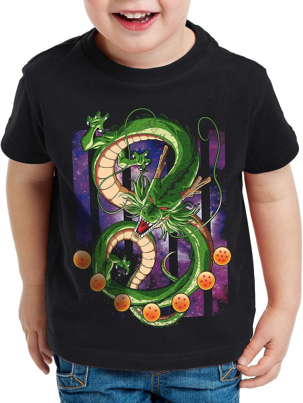 style3 Shenlong Dragón Camiseta para Niños T-Shirt Shenron Z Goku Vegeta Roshi Ball