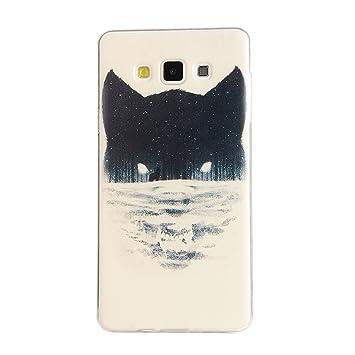 Para Samsung Galaxy A3 (2015) / A3 (2015) Duos (4,5 pulgadas) Cáscara ZeWoo® Carcasa y Funda de Silicona - YG003 / lobo