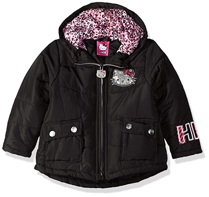 2a7aa0a9a Amazon.com: Hello Kitty Baby Girls Long Puffer Jacket with Hood ...