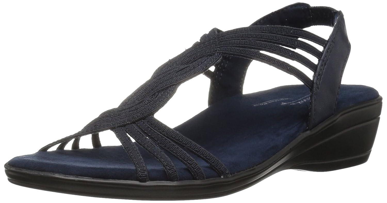 Easy Street Women's Natara Flat Sandal B01N9AEL43 8.5 W US|Navy