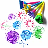 HENGSONG Children Kids Creative Flower Stamp Sponge Brush DIY Art Painting Tools