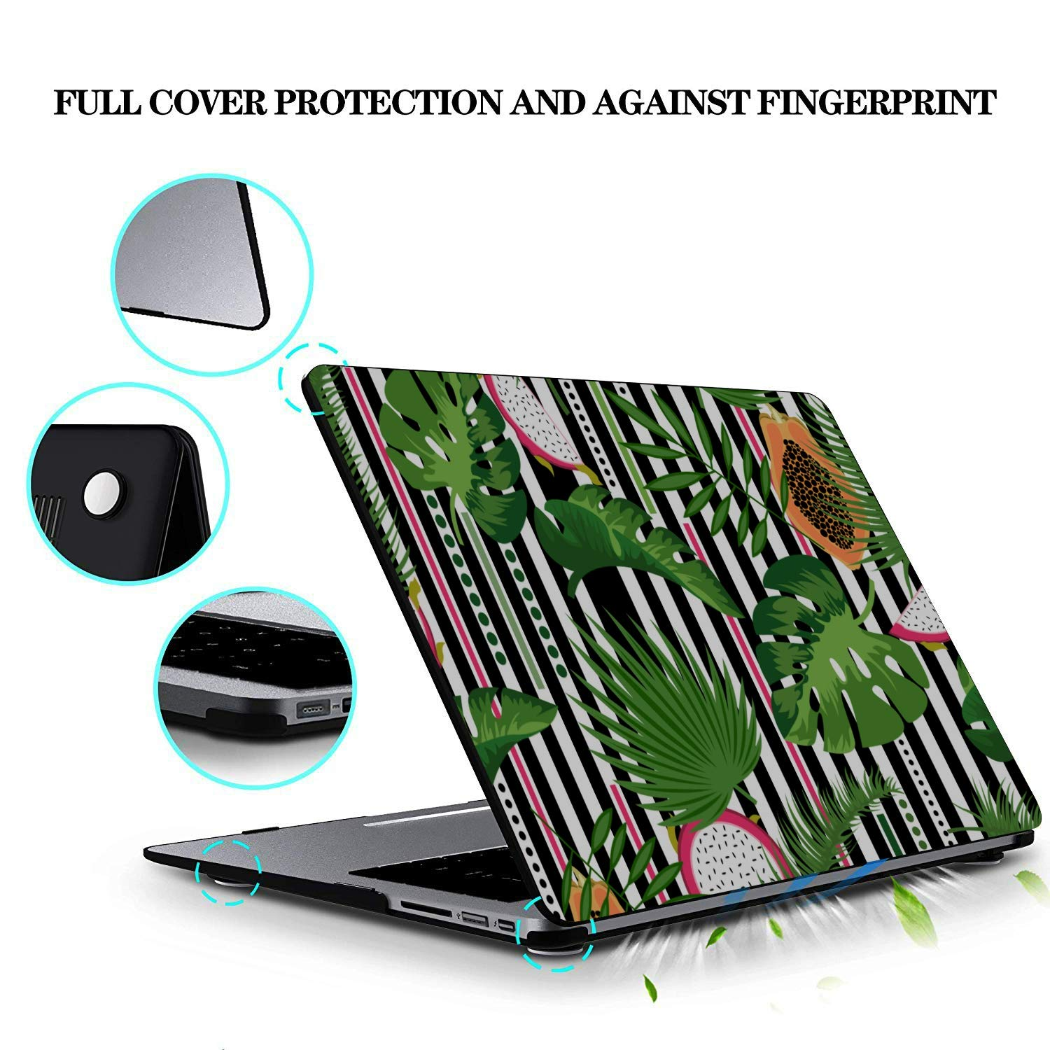 MacBook Air Hard Cover Sweet Art Tropical Fruit Dragon Leaf Plastic Hard Shell Compatible Mac Air 11 Pro 13 15 11 MacBook Air Case Protection for MacBook 2016-2019 Version