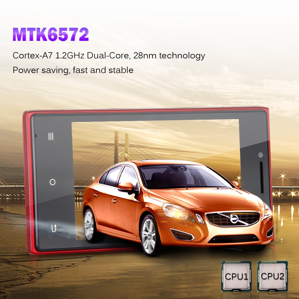 Amazon com: Cubot GT72+ Unlocked 4 0 Inch Android 4 4 2 KitKat GSM
