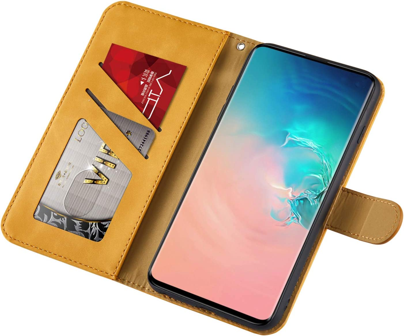 Samsung S10 Plus Case Flip Shockproof PU Leather Wallet Cover Elephant /& Butterfly with Stand Magnetic Holder TPU Gel Bumper Folio Slim Fit Protective Phone Case for Samsung Galaxy S10 Plus Blue
