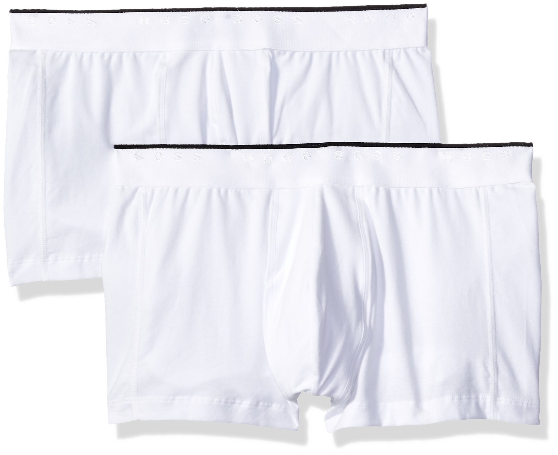 Hugo Boss BOSS Men's 2-Pack Excite Cotton Stretch Trunk, White, Medium
