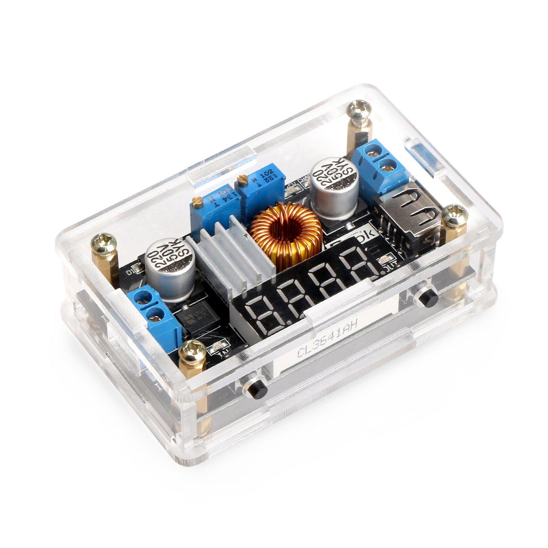 CC Buck Converter, DROK DC-DC Constant Current & Voltage Regulator Board 5V-36V 24V to 1.25V-32V 17V 12V 5V Step Down Transformer 5A 75W High Power LED CC Driver Module Battery Charge for Solar Panels