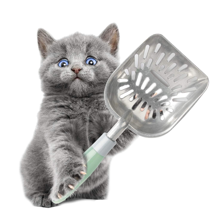 PAWISE Cat Litter Scoop, Solid Iron Non-Stick Litter Scooper Deep Shove
