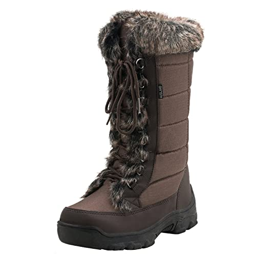 7613e3c89 Shenji Women's Lace-up Mid-Calf Snow Boots H7623: Amazon.co.uk ...