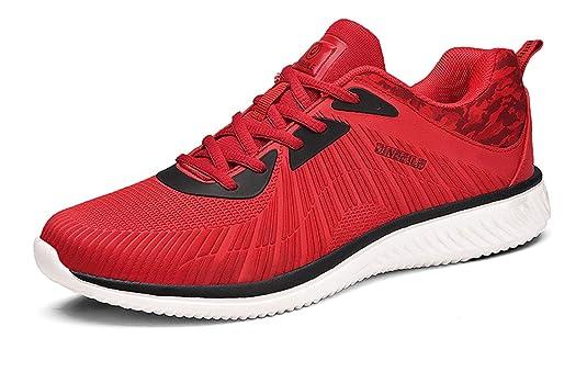 Santimon Zapatillas rojas Hombres Respirable Casual Atlético Ligero Outdoors Moda Zapatos deportivos: Amazon.es: Zapatos y complementos