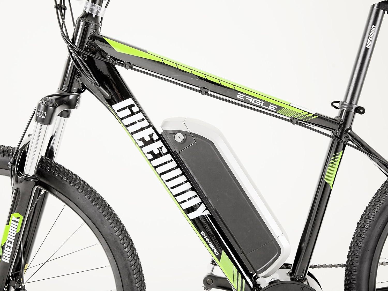 Bicicleta eléctrica de montaña de Greenway; pantalla LCD Panasonic ...