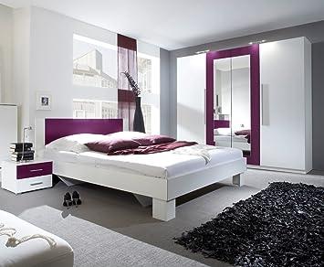 Dreams4Home Schlafzimmer Set U0027Fieteu0027   Kleiderschrank, Schrank, 2  Spiegeltüren, 2 Holztüren