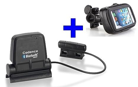 GO-SHOPPING24 Speed Cadence Bluetooth + Fahrradhalterung für Samsung S3, S4, S5, S6, S7, S8, S9, S10 für RUNTASTIC, Wahoo App