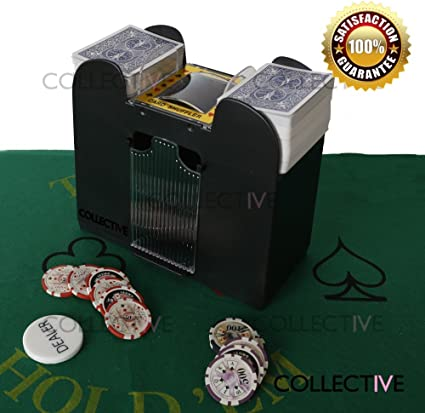 Automatic 2 Deck Wooden Deluxe Playing Card Shuffler Poker Casino Uno
