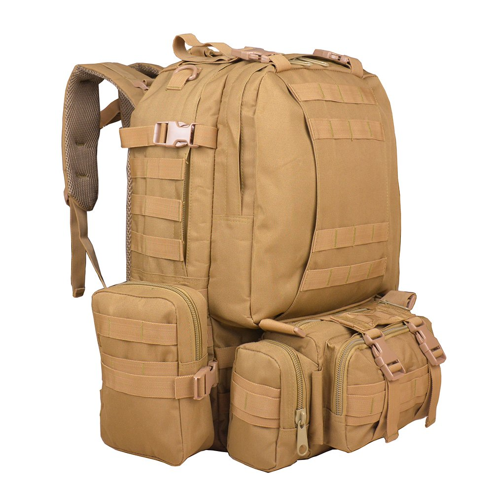 TTLIFE Hiking Backpacks Combined with 3 Dismountable Molle bags Military Bag  f1164de770747