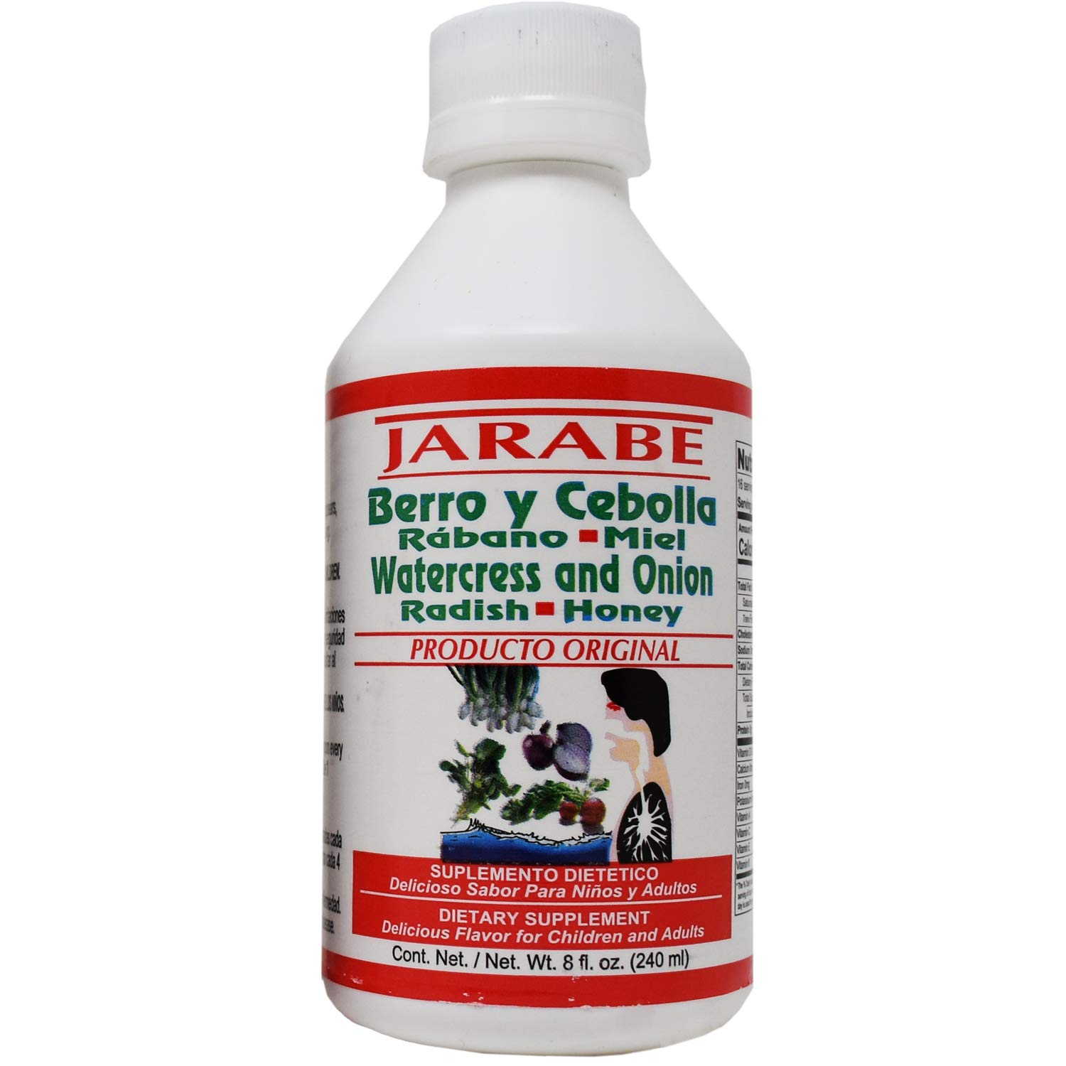 Amazon.com: Jarabe Berro y Cebolla Rabano-Miel 8 Oz. 2-PACK Watercress and Onion Radish-Honey Syrup (2): Health & Personal Care