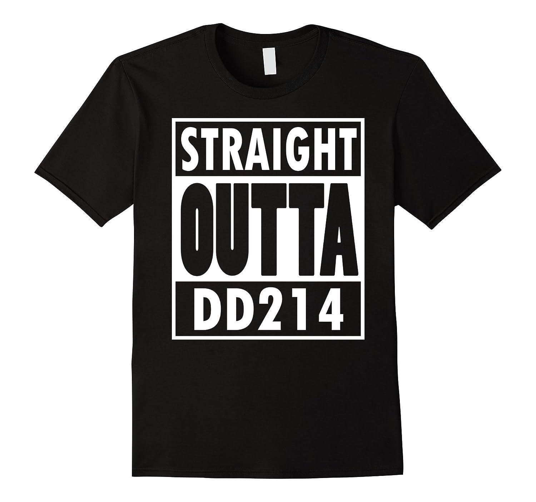 Fleur De Tees Straight Outta DD214 Humor Military T-Shirt-FL