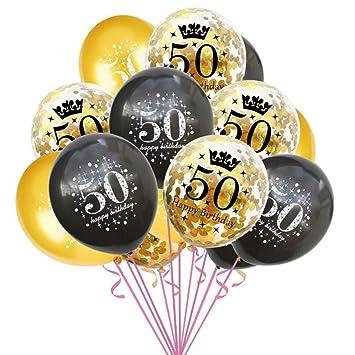 Oblique Unique - Globos de Confeti para 50 cumpleaños ...