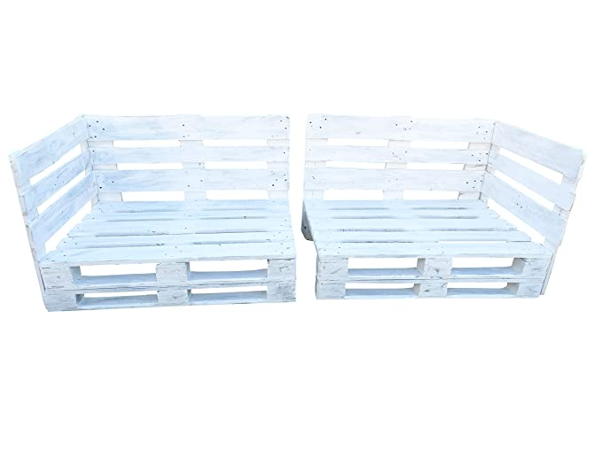 Estructura de Sofá Hecha con Palets/Pallets Color Blanco con ...